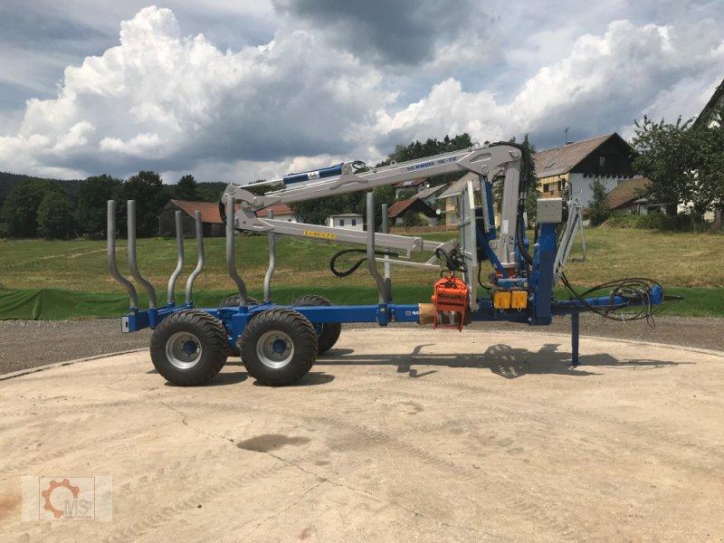 Rückewagen & Rückeanhänger des Typs Scandic ST-10S 13t 7,9m 550kg Kran Druckluft sofort verfügbar, Neumaschine in Tiefenbach (Bild 3)