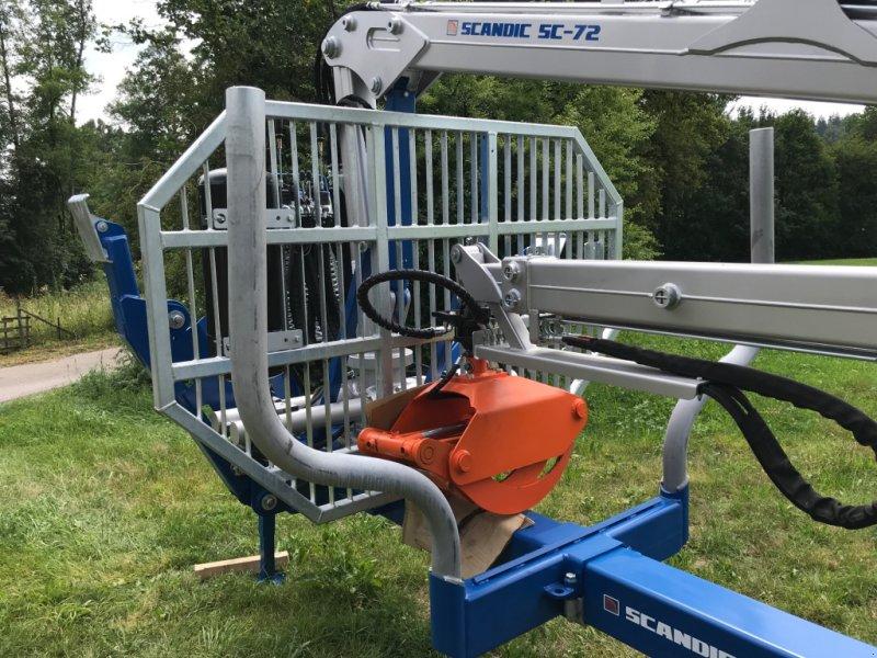 Rückewagen & Rückeanhänger des Typs Scandic ST-10S Kran SC 72, Druckluft gebremst, Neumaschine in Oberrot (Bild 5)