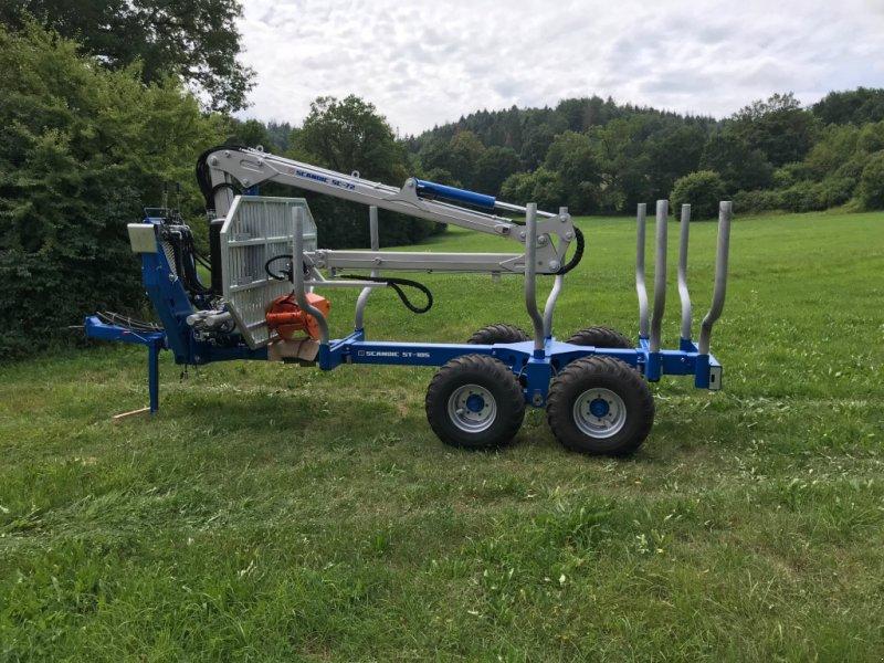 Rückewagen & Rückeanhänger des Typs Scandic ST-10S Kran SC 72, Druckluft gebremst, Neumaschine in Oberrot (Bild 1)