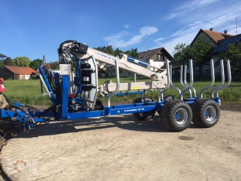 Rückewagen & Rückeanhänger des Typs Scandic ST-12D 16t 9m 750kg Kran Druckluft Seilwinde, Neumaschine in Tiefenbach (Bild 2)