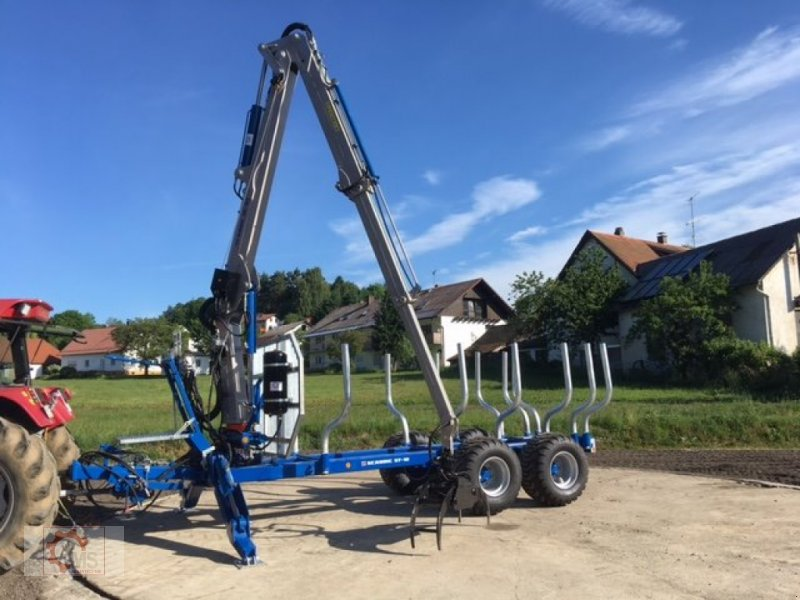 Rückewagen & Rückeanhänger des Typs Scandic ST-12D 16t 9m 750kg Kran Druckluft Seilwinde, Neumaschine in Tiefenbach (Bild 8)