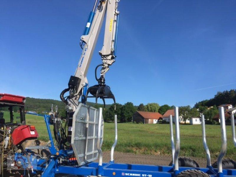 Rückewagen & Rückeanhänger des Typs Scandic ST-12D 16t 9m 750kg Kran Druckluft Seilwinde, Neumaschine in Tiefenbach (Bild 9)