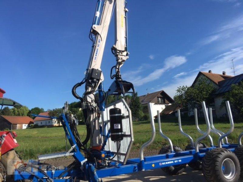 Rückewagen & Rückeanhänger des Typs Scandic ST-12D 16t 9m 750kg Kran Druckluft Seilwinde, Neumaschine in Tiefenbach (Bild 11)