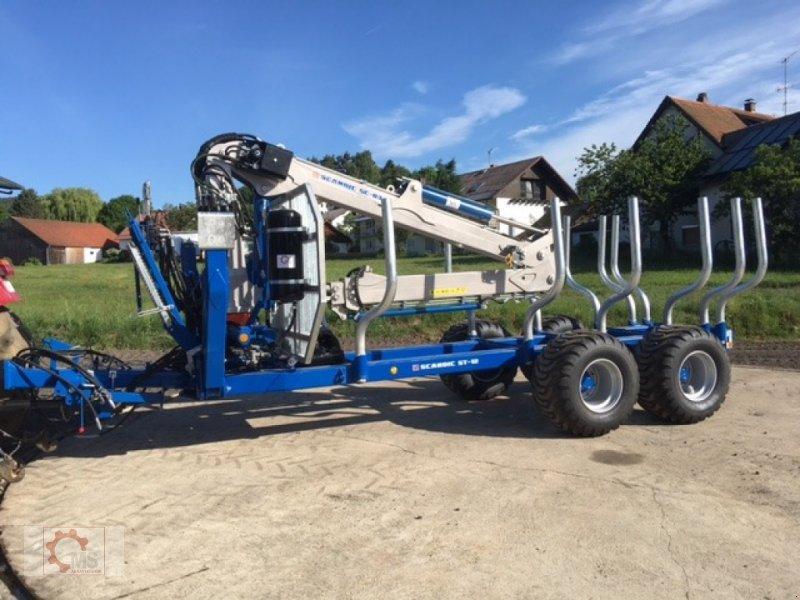 Rückewagen & Rückeanhänger des Typs Scandic ST-12D 16t 9m 750kg Kran Druckluft Seilwinde, Neumaschine in Tiefenbach (Bild 1)