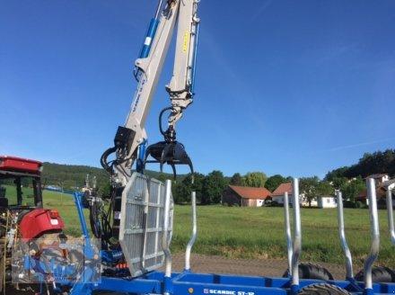 Rückewagen & Rückeanhänger des Typs Scandic ST-12D 16t 9m Kran 750kg Hubkraft Druckluft Seilwinde, Neumaschine in Tiefenbach (Bild 17)