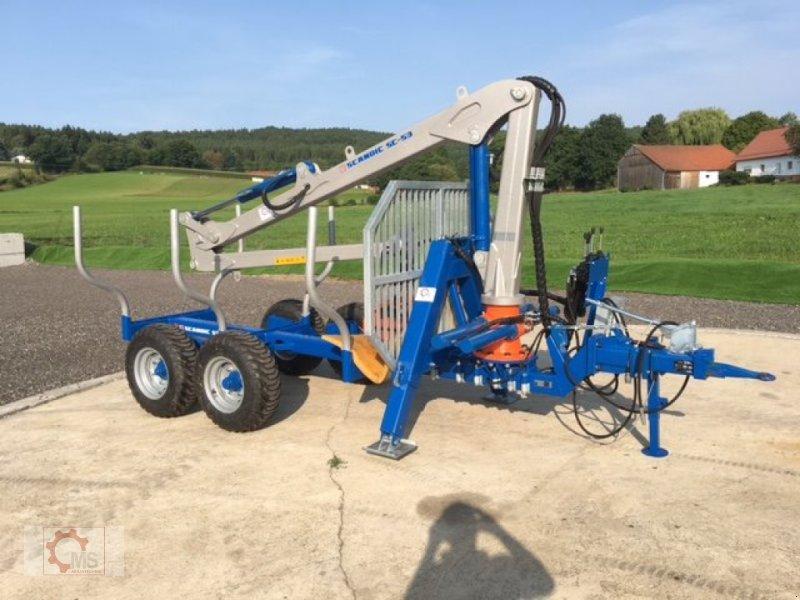 Rückewagen & Rückeanhänger des Typs Scandic ST-6 6,6t 5,9m Kran 600kg Auflauf- Hydraulische Bremse, Neumaschine in Tiefenbach (Bild 1)