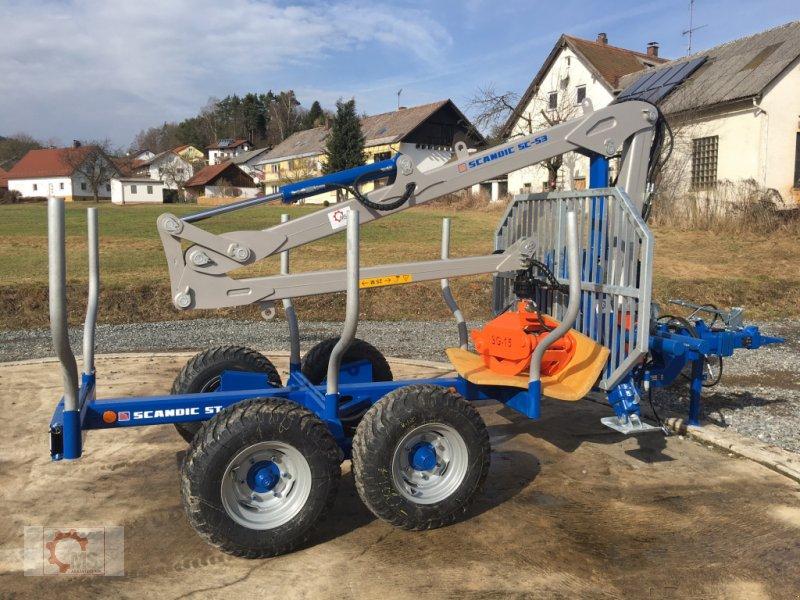 Rückewagen & Rückeanhänger des Typs Scandic ST-6 6,6t 5,9m Kran 600kg Auflauf- Hydraulische Bremse, Neumaschine in Tiefenbach (Bild 3)