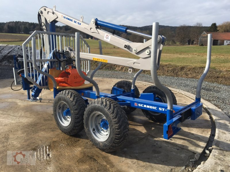 Rückewagen & Rückeanhänger des Typs Scandic ST-6 6,6t 5,9m Kran 600kg Auflauf- Hydraulische Bremse, Neumaschine in Tiefenbach (Bild 5)