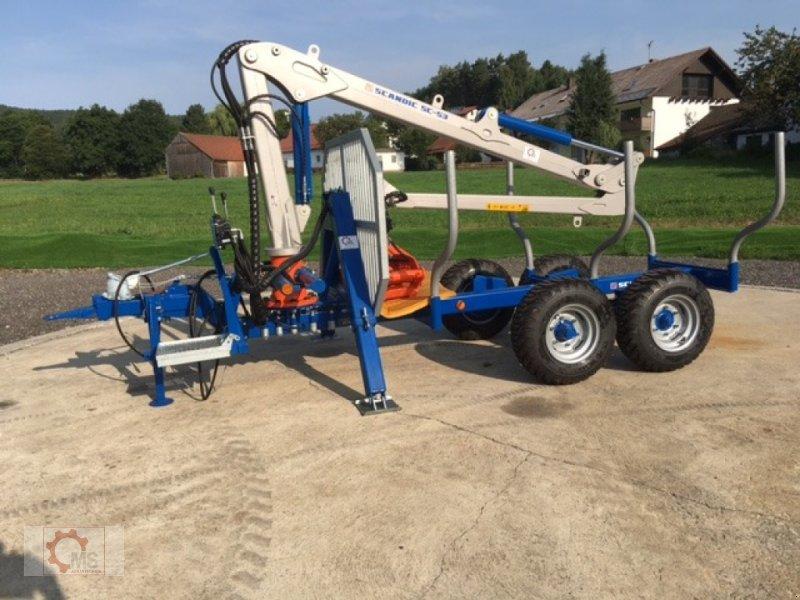 Rückewagen & Rückeanhänger des Typs Scandic ST-6 6,6t 5,9m Kran 600kg Auflauf-Hydraulische Bremse, Neumaschine in Tiefenbach (Bild 1)
