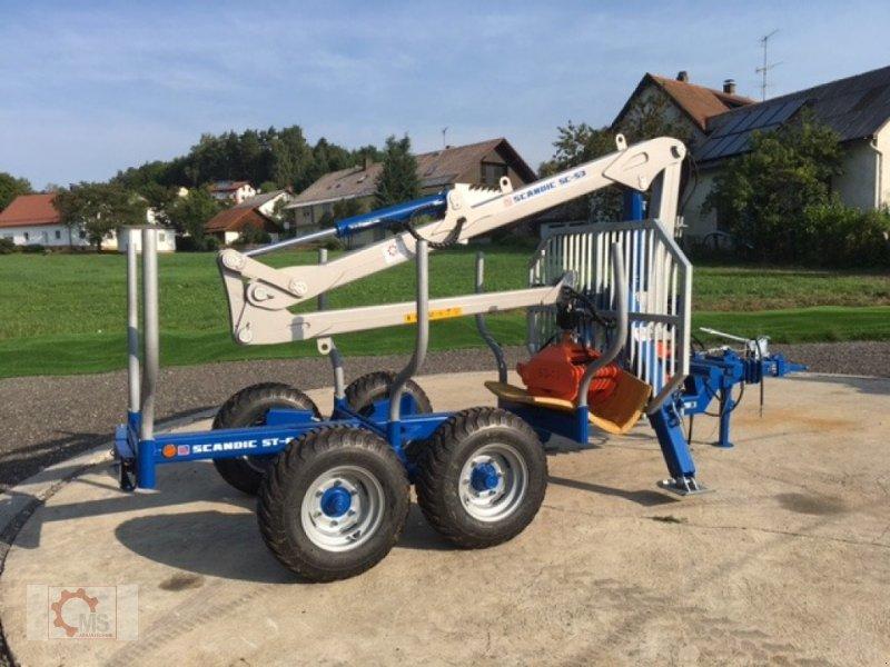 Rückewagen & Rückeanhänger des Typs Scandic ST-6 7,4t 5,9m Kran 600kg Auflauf-Hydraulische Bremse, Neumaschine in Tiefenbach (Bild 3)