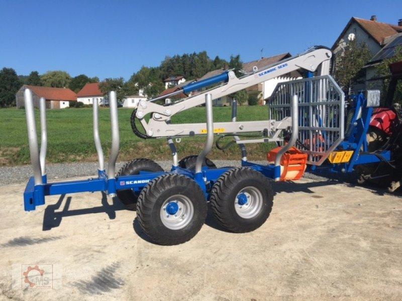 Rückewagen & Rückeanhänger des Typs Scandic ST-8 10,5t 7,1m Kran 600kg Druckluft 40% Förderung, Neumaschine in Tiefenbach (Bild 3)