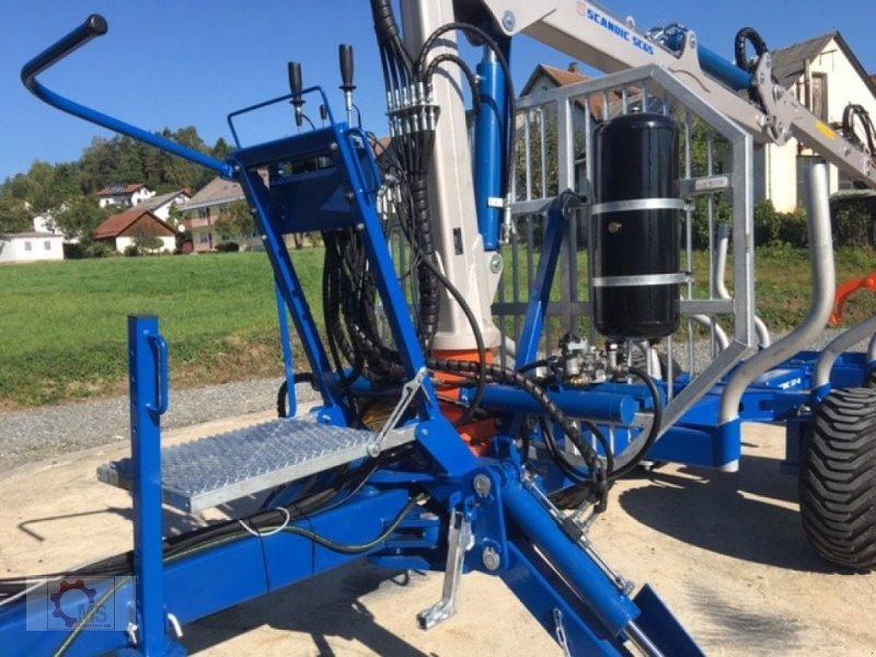 Rückewagen & Rückeanhänger des Typs Scandic ST-8 10,5t 7,1m Kran 600kg Druckluft 40% Förderung, Neumaschine in Tiefenbach (Bild 24)