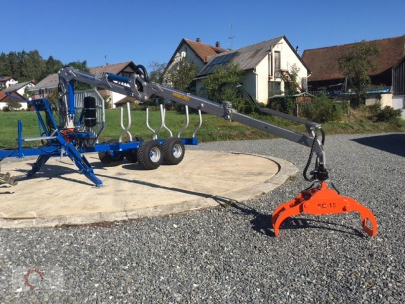 Rückewagen & Rückeanhänger des Typs Scandic ST-8 10,5t 7,1m Kran 600kg Druckluft 40% Förderung, Neumaschine in Tiefenbach (Bild 28)
