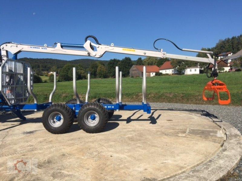 Rückewagen & Rückeanhänger des Typs Scandic ST-8 10,5t 7,1m Kran 600kg Hubkraft Druckluft, Neumaschine in Tiefenbach (Bild 5)