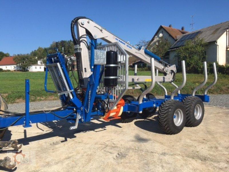 Rückewagen & Rückeanhänger des Typs Scandic ST-8 10,5t 7,1m Kran 600kg Hubkraft Druckluft, Neumaschine in Tiefenbach (Bild 2)