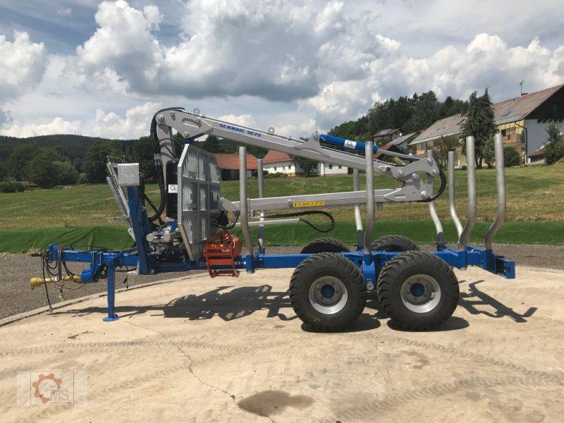 Rückewagen & Rückeanhänger des Typs Scandic ST-8 10,5t 7,9m Kran 550kg Druckluft sofort verfügbar 40% Förderung, Neumaschine in Tiefenbach (Bild 5)