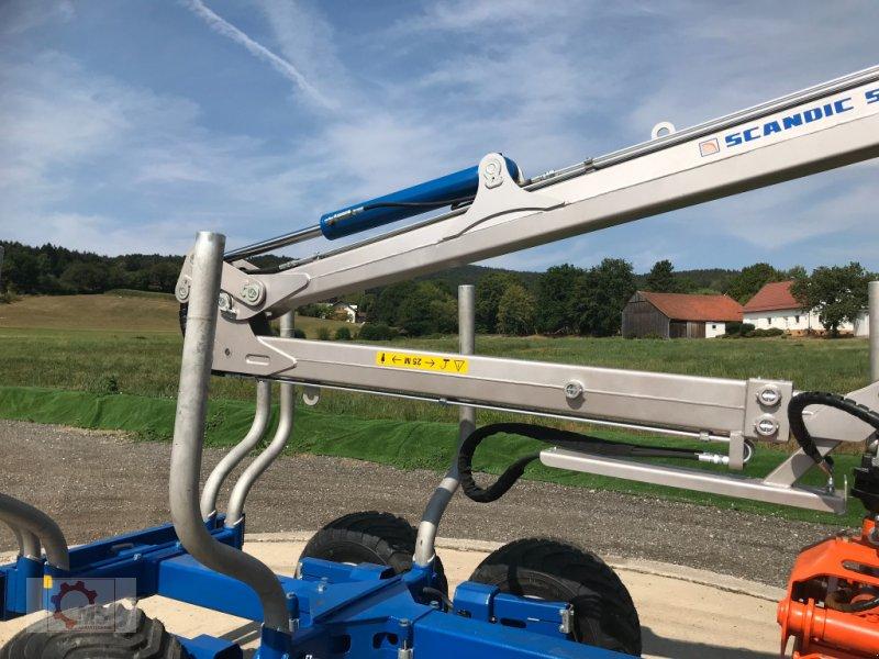 Rückewagen & Rückeanhänger des Typs Scandic ST-8 10,5t 7,9m Kran 550kg Hubkraft Druckluft, Neumaschine in Tiefenbach (Bild 8)