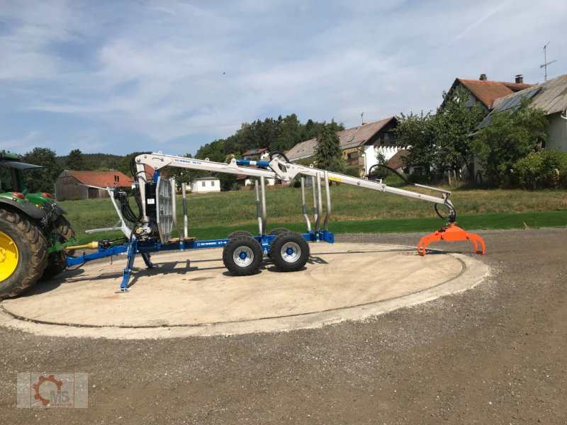 Rückewagen & Rückeanhänger des Typs Scandic ST-8 10,5t 7,9m Kran 550kg Hubkraft Druckluft, Neumaschine in Tiefenbach (Bild 17)