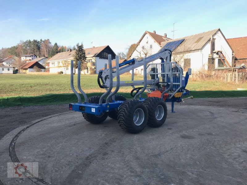 Rückewagen & Rückeanhänger des Typs Scandic ST-8 10,5t 7,9m Kran 550kg Hubkraft, Neumaschine in Tiefenbach (Bild 2)