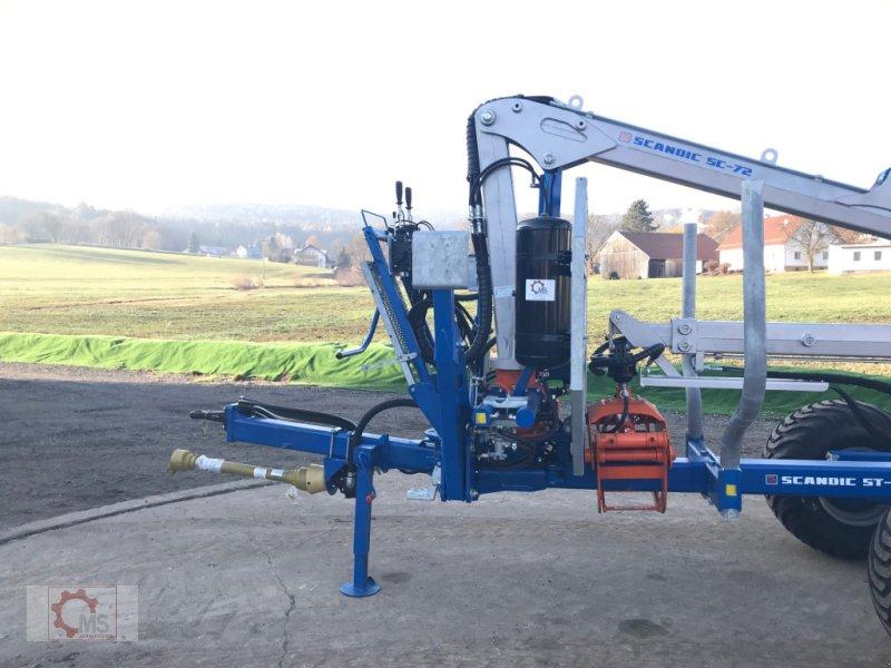Rückewagen & Rückeanhänger des Typs Scandic ST-8 10,5t 7,9m Kran 550kg Hubkraft, Neumaschine in Tiefenbach (Bild 3)