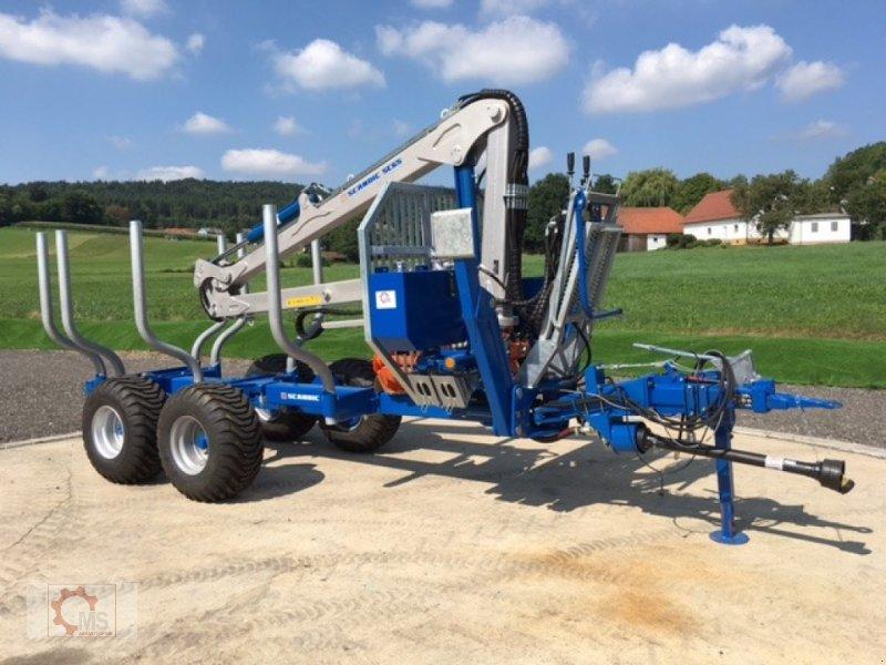 Rückewagen & Rückeanhänger des Typs Scandic ST-8 7,1m Kran 600kg Auflauf- Hydraulische Bremse 40% Förderung, Neumaschine in Tiefenbach (Bild 2)