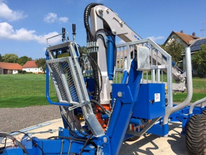 Rückewagen & Rückeanhänger des Typs Scandic ST-8 7,1m Kran 600kg Auflauf- Hydraulische Bremse, Neumaschine in Tiefenbach (Bild 5)