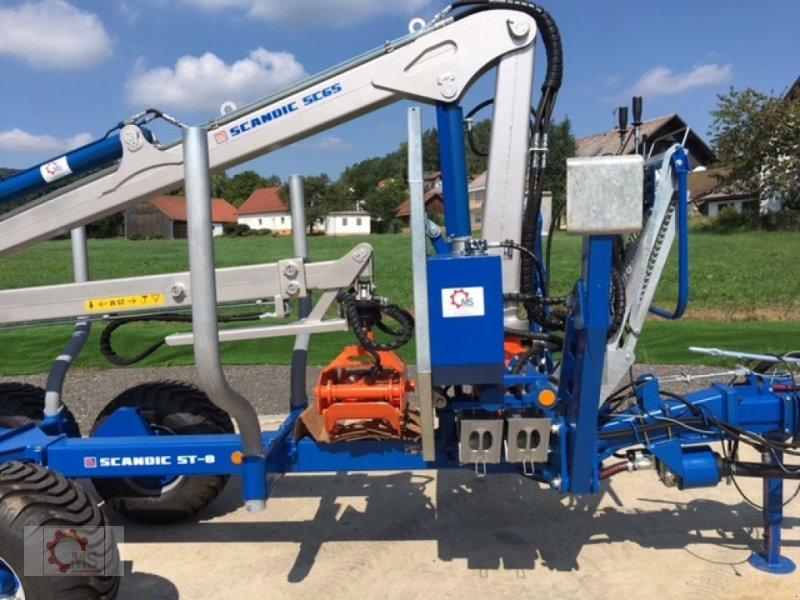 Rückewagen & Rückeanhänger des Typs Scandic ST-8 7,1m Kran 600kg Auflauf- Hydraulische Bremse, Neumaschine in Tiefenbach (Bild 6)