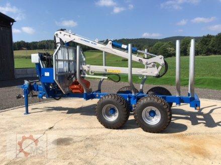Rückewagen & Rückeanhänger des Typs Scandic ST-8 7,1m Kran 600kg Hubkraft Aufl- Hydr. Bremse, Neumaschine in Tiefenbach (Bild 3)