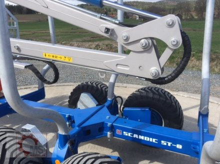 Rückewagen & Rückeanhänger des Typs Scandic ST-8 7,9m Kran 550kg Hubkraft Auflauf Hydr. Bremse, Neumaschine in Tiefenbach (Bild 10)