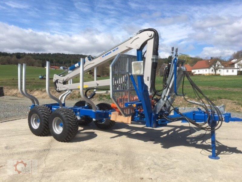 Rückewagen & Rückeanhänger des Typs Scandic ST-8 8t 7,9m Kran 550kg Hubkraft Auflauf Hydr. Bremse, Neumaschine in Tiefenbach (Bild 1)