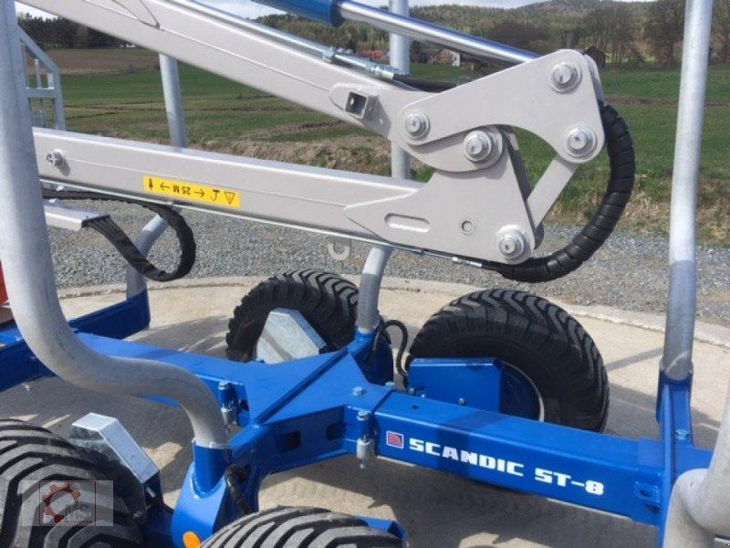 Rückewagen & Rückeanhänger des Typs Scandic St-8 8t 7,9m Kran Auflauf Hydr. 550kg 40% Förderung, Neumaschine in Tiefenbach (Bild 9)
