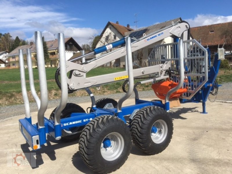 Rückewagen & Rückeanhänger типа Scandic ST-8 8t 7,9m Kran Auflauf Hydr. 550kg, Neumaschine в Tiefenbach (Фотография 3)