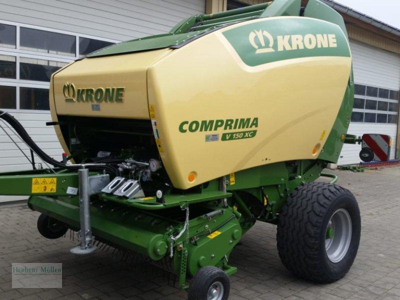 Rundballenpresse des Typs Krone Comprima V 150 XC, Gebrauchtmaschine in Sauldorf (Bild 1)