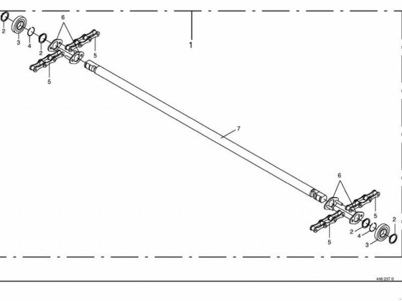 Rundballenpresse des Typs Krone Rollboden komplett für Krone KR 125/130/Bellima, Gebrauchtmaschine in Villach (Bild 1)