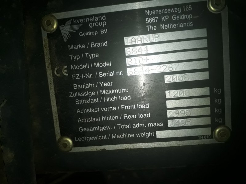 Rundballenpresse des Typs Kverneland Taarup 6844 Bio, Gebrauchtmaschine in Petersberg (Bild 5)