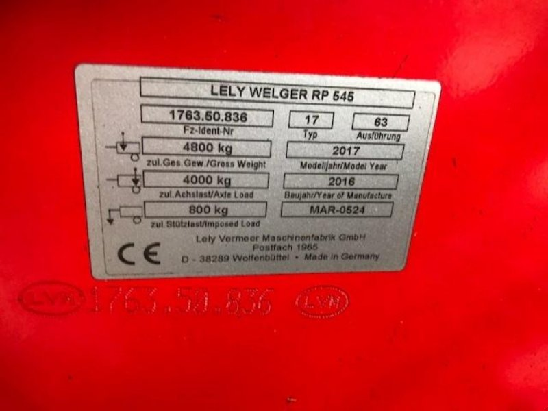 Rundballenpresse типа Lely RP 545 Kun 4382 baller, Gebrauchtmaschine в Rødekro (Фотография 6)