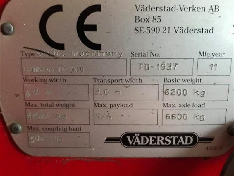 Saatbettkombination/Eggenkombination typu Väderstad Top Down 400 GODSMASKINE, Gebrauchtmaschine v Vojens (Obrázok 3)