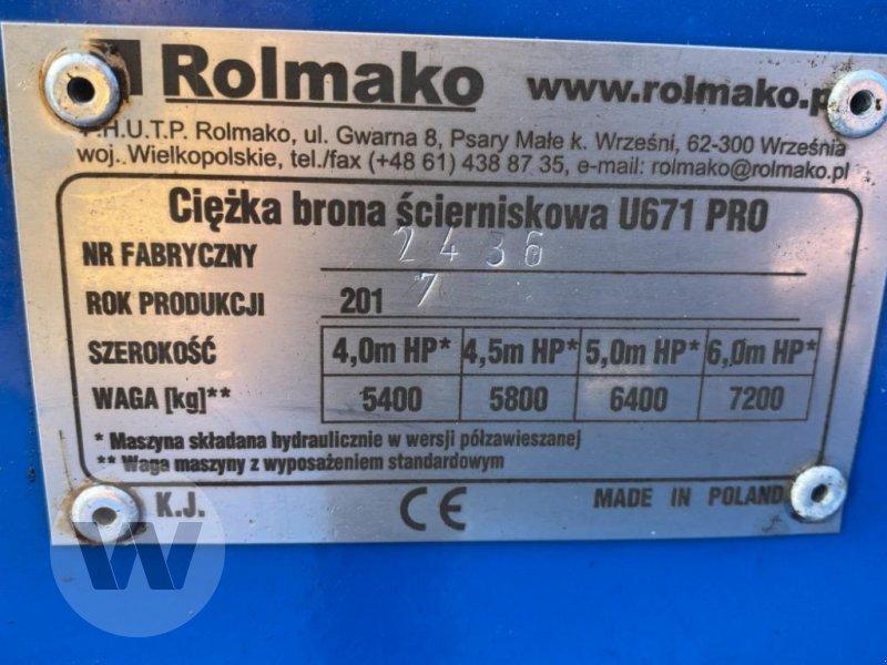 Scheibenegge des Typs Rolmako U671 PRO, Gebrauchtmaschine in Husum (Bild 3)