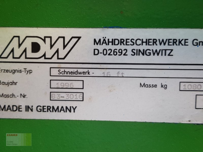 Schneidwerk des Typs MDW-Fortschritt 16.ft mit Rapsausrüstung, Gebrauchtmaschine in Vohburg (Bild 5)