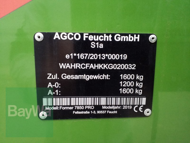 Schwader του τύπου Fendt FORMER 7850 PRO, Gebrauchtmaschine σε Bamberg (Φωτογραφία 16)