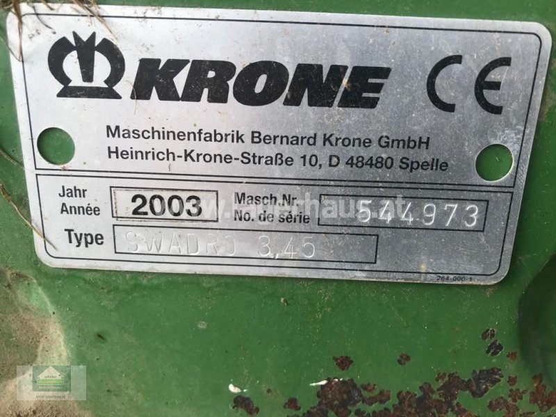 Schwader a típus Krone 345, Gebrauchtmaschine ekkor: Klagenfurt (Kép 3)