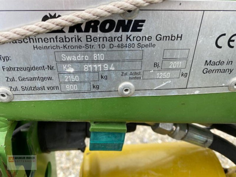 Schwader des Typs Krone SWADRO 810, Gebrauchtmaschine in Gottenheim (Bild 2)