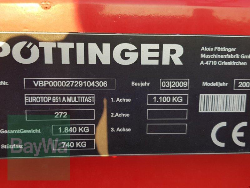 Schwader des Typs Pöttinger Eurotop 651 A Multitast, Gebrauchtmaschine in Bamberg (Bild 5)