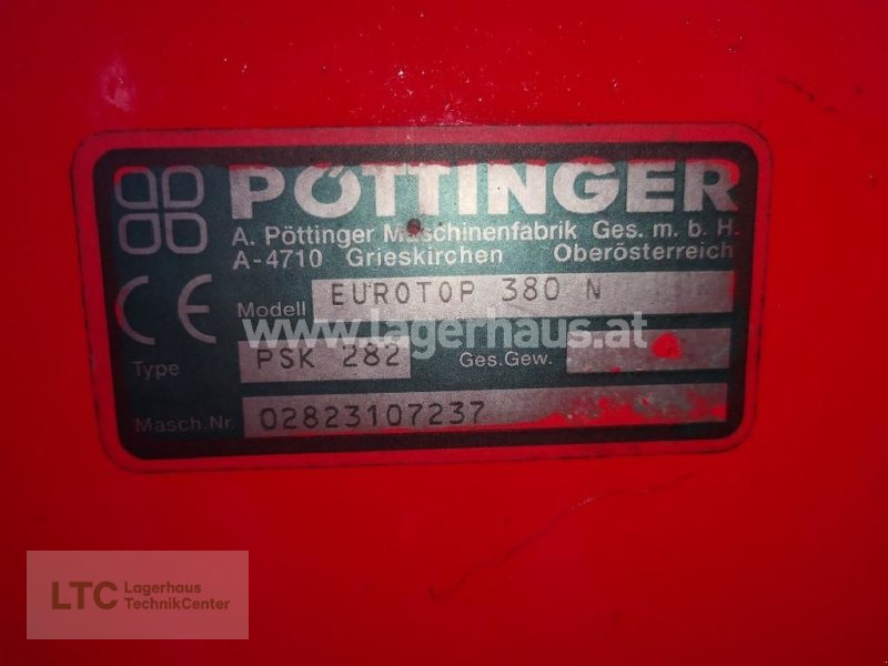 Schwader a típus Pöttinger KREISELSCHWADER EUROTOP 380 N, Gebrauchtmaschine ekkor: Schärding (Kép 3)