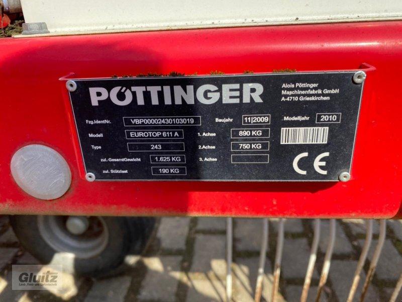 Schwader des Typs Pöttinger Top 611 A, Gebrauchtmaschine in Gammertingen-Kettenacker (Bild 5)