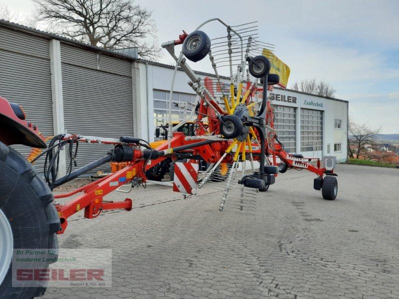 Schwader del tipo Pöttinger Top 812 mit Druckluftbremse, Gebrauchtmaschine en Ansbach (Imagen 1)