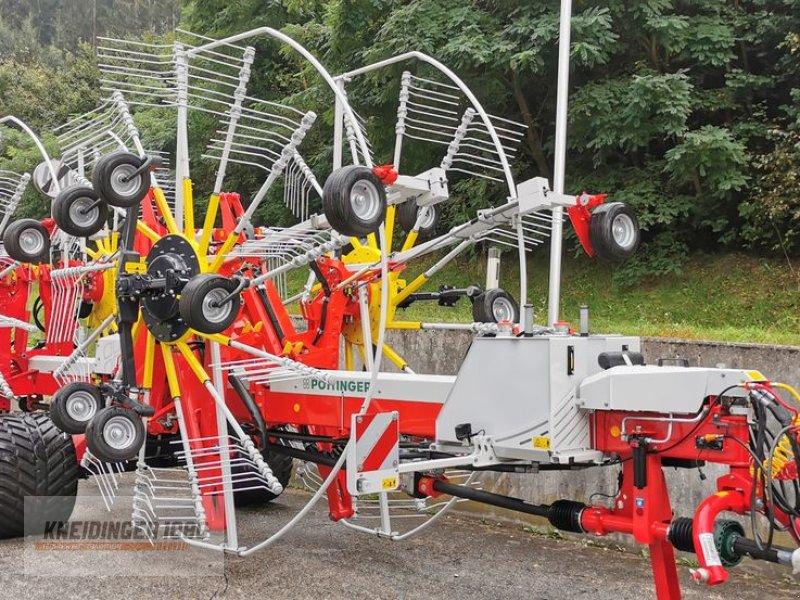 Schwader des Typs Pöttinger Vierfachschwader Top 1403 C, Vorführmaschine in Altenfelden (Bild 1)