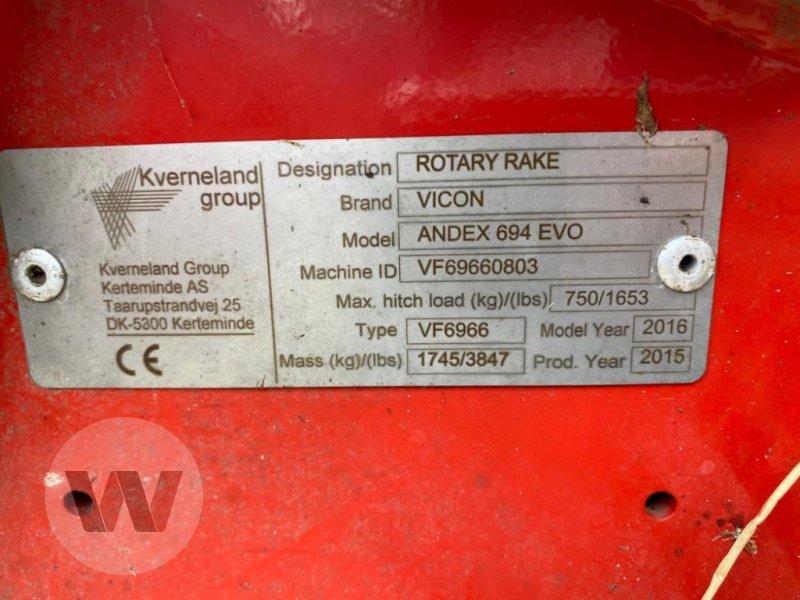Schwader des Typs Vicon ANDEX 694 EVO, Gebrauchtmaschine in Husum (Bild 3)
