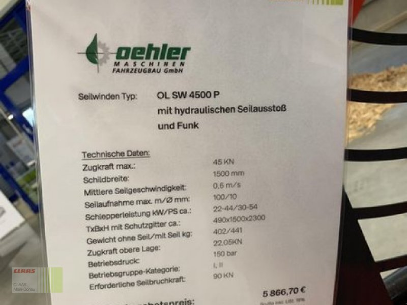 Seilwinde типа Oehler OL SW 4500P EH-SA + FUNK S1, Neumaschine в Asbach-Bäumenheim (Фотография 4)