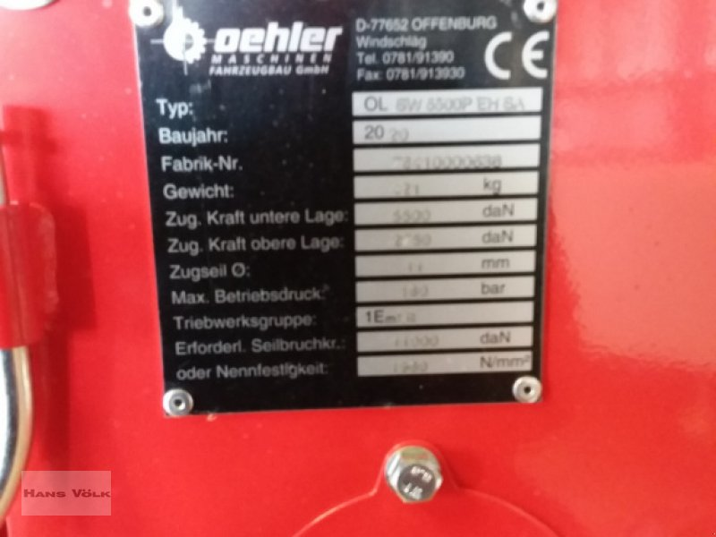 Seilwinde des Typs Oehler OL SW 5500 SA / EH, Neumaschine in Schwabmünchen (Bild 6)